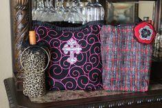 Double wine bags by kimberlybishop1 on Etsy, $20.00