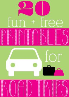 20 Fun, Free Road Trip Printables