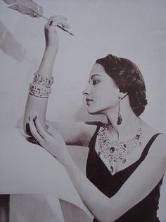 Maharani Sita Devi of Kapurthala and Kashipur by Cecil Beaton, 1940s.