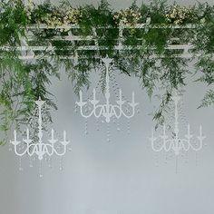 Vintage Chandelier Silhouette - ideal decor for a garden wedding.