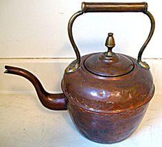 Tea Kettle Copper  Brass