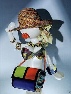 #MMissoni Accessories | #Color block shoulder bag with #orange cord strap | Summer 2014 Collection | Seiten Blicke Magazin, Austria