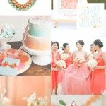 Coral, Mint & Pink Wedding Colour Mood Board