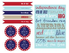 FREE Fourth of July Printables here: http://www.prettymyparty.com/free-fourth-of-july-printables/