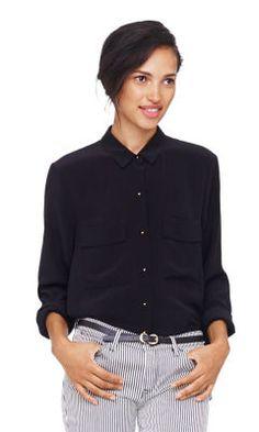 Kaylan Silk Shirt - Club Monaco Long Sleeve - Club Monaco