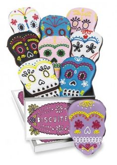 trick or treat mini collection biscuiteers - delicious hand iced biccies to order on line - say it with icing