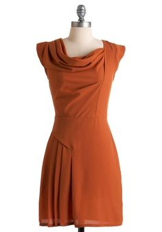 Sweet Orange Spice Dress | Mod Retro Vintage Dresses | ModCloth.com - StyleSays