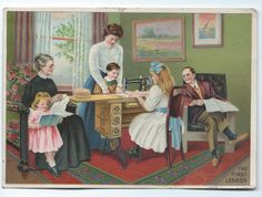 Two Victorian Trade Cards for Singer Sewing Machines and Art Work | eBay