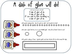 Fun song and activity to teach kids the right amount of glue to use