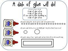 Top Secret Gluing Technique... Incredible FREEBIE! classroom, kindergarten glue, young children, a frame, happy kids, teaching kids, dots, teacher, first grade