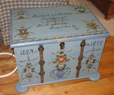 Hand painted trunk.