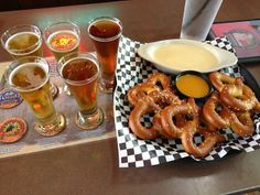Smoky Mountain Brewery - Pretzels with Beer Cheese #smokymountains #pigeonforge