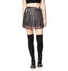 Metallic Skirt. #hotforholiday