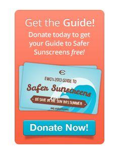 EWG 2013 guide sunscreens