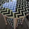 Fabric-Covered Resin Table Redo {plus 23 other resin project ideas} - Design & Decor - ShelterHub