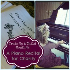 Host a recital to raise money for charity