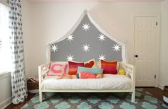jazz up a daybed with canopy fairy lights