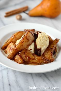 desserts, sweet treat, food recipes, caramel pear, butter