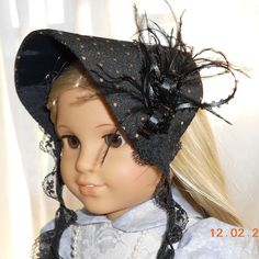 American Girl Doll Clothes - Doll Hat - Winter Bonnet