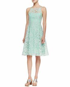 NANETTE LEPORE Beach Breeze Lace Sleeveless Dress, Green