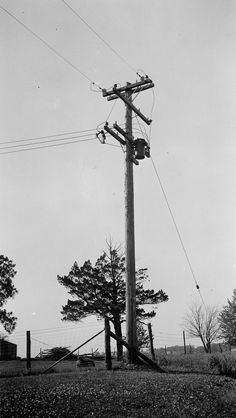 RURAL ELECTRIFICATION: This familiar power line design was new in the 1930s and made rural electrification more efficient.