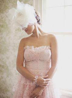 Beautiful pink vintage wedding dress
