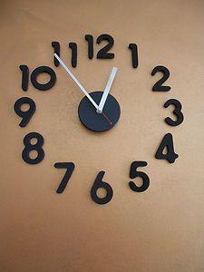 Grandi orologi a muro m on pinterest wall clocks for Orologi da parete adesivi