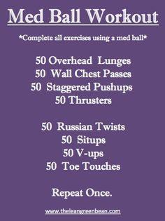Med Ball Workout