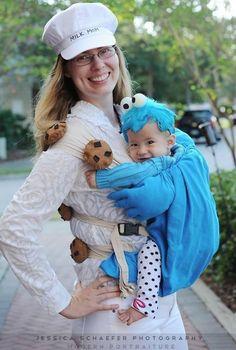 Babywearing costume ideas: Milk & Cookies! So cute.