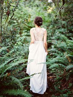 Bride in a Fern Grov