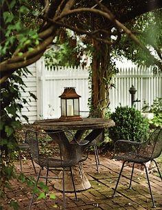 white picket fences, patio design, brick, arbor, outdoor space, backyard, sitting areas, garden, outside patios