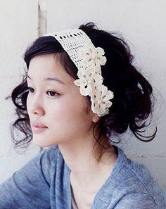crochet flower hair accessory