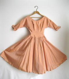 1950s Dress Peach