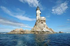 Abandoned Aniva Lighthouse, built by Japan, Southern coast of Sakhalin Island, East of Russia between the sea of Japan and Russia's Sea of Okhotsk.