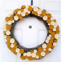 love this wreath- just need to add a garnet ribbon for FALL and FSU games