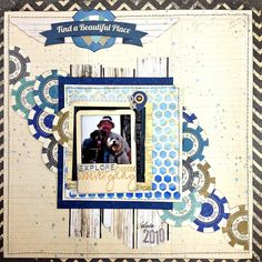 Explore Everyday Scrapbook Page Tutorial By Tracee Provis featuring Bo Bunny Wildcard Souvenir Collection. #BoBunny @fluffyasever