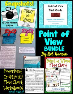 POV Teaching Materials for 1st Person, 2nd Person, 3rd Person Limited, 3rd Person Omniscient  $