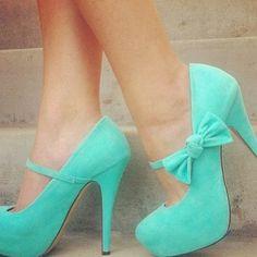 wedding dressses, sued pump, color, ribbon, high heel, mint platform, bow, band high, shoe