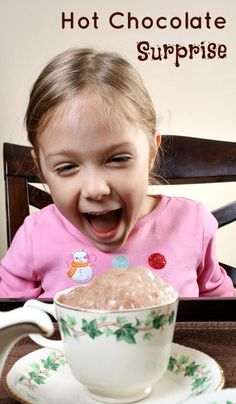 Hot Chocolate Surprise...winter science for kids or just a fun trick to play on your little ones!
