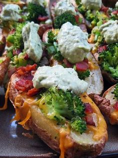 Cheddar Broccoli Potato Skins...