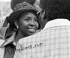 1974 - American singer Gladys Knight on the set of Midnight Train to Georgia Music Video Shoot