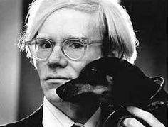 Andy Warhol and his dachshund