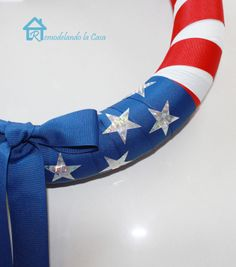 Pool Noodle Wreath for 4th of July