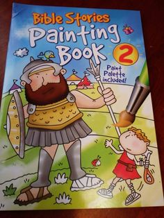 Check out this super fun book that makes bringing paint along a no-mess breeze-so cool! Bible Stories Painting Book 2 #parenting #book