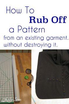 Blazer pattern making tutorial, Rub off patterning - Melly Sews