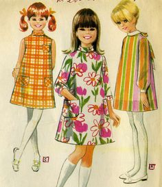 Vintage Helen Lee McCalls 8627 CUT Girls Mod A-Line by RomasMaison