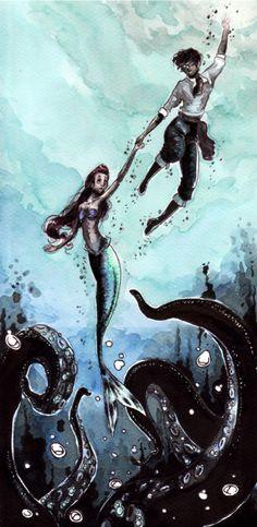 little mermaid movie, eric and ariel, mermaid art, frames, concept art