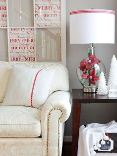 Use a single accent color to decorate and emphasize the holiday season: http://www.bhg.com/christmas/indoor-decorating/pretty-christmas-living-rooms/?socsrc=bhgpin100614decoratewithasinglecolor&page=4
