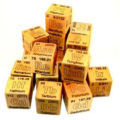 Periodic Table of Elements Wooden Blocks by WoodToyShop on Etsy, $75.00
