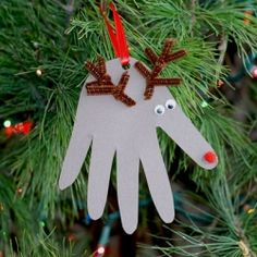 Four fun handprint Christmas decorations for kids!